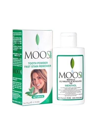 Moos MOOS Parlatıcı ve Beyazlatıcı Diş Tozu - Mentollü 50 gr Renksiz